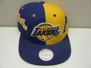 NEW LA LOS ANGELES LAKERS ADJUSTABLE MITCHELL & NESS BASKETBALL HAT