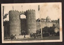 Spain Old Postcard Exposicion Internacional De Barcelona Avila Gate  1946