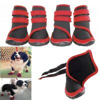 Dog Shoes Black Red Neoprene XS S M L XL Boots Paw Protection Waterproof Support