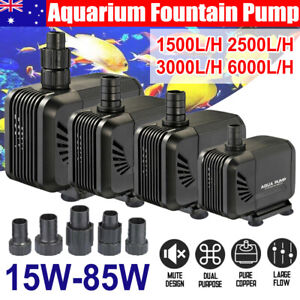 1500 6000 LPH Aquarium Pump Water Submersible Fish Tank Fountain Pond Marine AU
