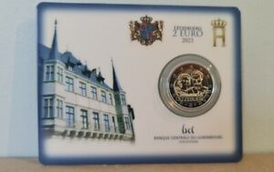 Coincard BU Poinçon 2 Euros Commémorative Luxembourg 2021 Mariage