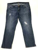 Kut From The Kloth Women's Plus Size 20W Curvy Fit Boyfriend Distressed Jeans