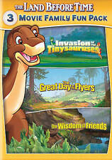 The Land Before Time XI-XIII: 3-Movie Family Fun Pack (DVD, 2015 2-Disc Set) NEW