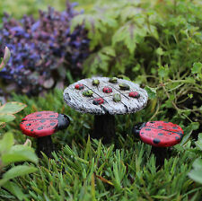 Miniature Tic-Tac-Toe Bistro 3-pc set WS 1057 Dollhouse Fairy /Faerie Garden
