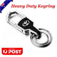 Car styling Silver Car Key Ring Keyring Keychain Chain For Toyota Car AWD 4WD