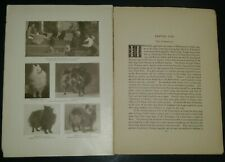 Pomeranian Breed History & Photos from the 1906 Dog Book by James Watson