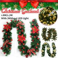 1.8 LED Guirlande Vert Sapin Arbre de Noël Fête Décor Fête Maison Décor