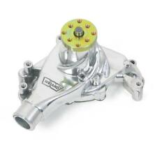 Weiand Water Pump 9240P; Action+ Polished Aluminum Mechanical for Chevy SBC