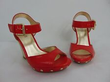 AUTHENTIC NEW GUESS WEDGE RED WOMEN'S SHOES SIZE 7 1/2M      (A6591)