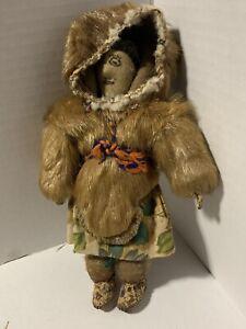 "Authentic Vintage 8"" INUIT Canadian Eskimo DOLL"