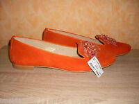 Studio W Slipper / Ballerina NEU Gr. 43 in orange & ganz weiches Leder super