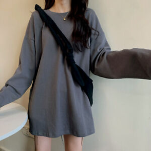 Japanese Korean streetwear fashion oversized split light crewneck sweater (HD12)