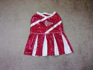 Dog Cheerleader Clothes XL Red Sequin
