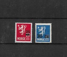 Norwegen Aufdruckmarken Löwe