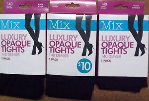 Luxury Opaque Tights Black 140 denier Mix