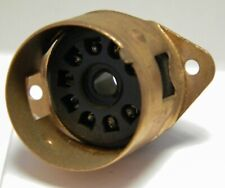 B9A chassis mount valve socket valve base with copper skirt for EL84, ECC83