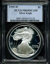 1995-W $1 Proof Silver American Eagle PR69 DCAM PCGS 03473122