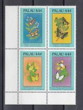 TIMBRE STAMP 4  ILE PALAU Y&T#150-53 PAPILLON FLEUR NEUF**/MNH-MINT 1987 ~B88