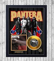 PANTERA VULGAR DISPLAY CUADRO CON GOLD O PLATINUM CD EDICION LIMITADA. FRAMED