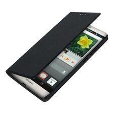 Kwmobile flip cover case para Huawei Ascend Mate 7 negra, funda protectora, estuche,
