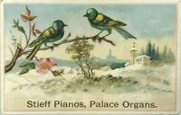 Chas M Stieff Pianos Palace Organs Grand Chas Tuttle Rome NY New York Trade Card