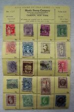 Vintage Mystic Stamp Company Collector Sheet No.101 World Stamps Complete