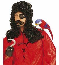 Accessorio Costume Carnevale Parrucca Uomo Capitano Con Baffi e Pizzo PS 20011