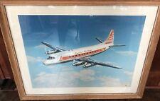 Vintage Capital Airlines Viscount Print Framed Large