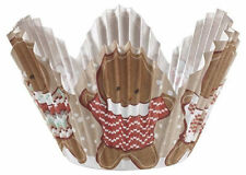 Gingerbread Boy Christmas Petal Baking Cups 24 ct from Wilton 2613  - NEW