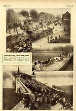 Rückmarsch  deutscher Truppen zw. Maarsyk und Roost 1918 * WW1