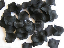 1000 BLACK silk rose petals wedding party favors, NEW !
