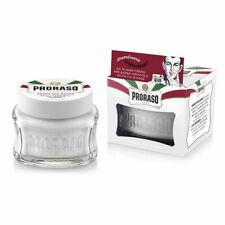 PRORASO Pre Shave Cream | Sensitive Skin | Green Tea and Oatmeal |100ml WHITE