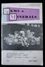 Australia Rockhounds, Gems and Minerals mag July 1960