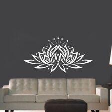 Large Size Lotus Flower Vinyl Wall Sticker Creative Design Wall Decals