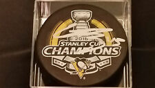 Conor Sheary signed Pittsburgh Penguins 2016 Stanley Cup Champions Puck COA