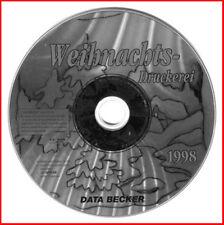 CD - Data Becker - Weihnachts Druckerei 1998 - ganz persönliche Foto-Grüße