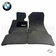 BMW E90 E91 325i 328i 330i Sedan Front Pair Set of 2 Black Carpet Mets Genuine
