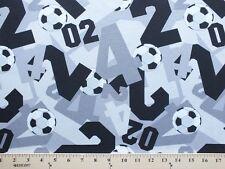 Soccer Balls Lightweight Jersey T-shirt Knit Fabric Print By the Yard D343.04