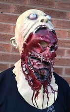 Zombie Teschio FULL HEAD & petto LATTICE maschera Deluxe Costume Demone Halloween