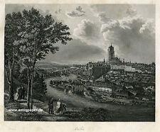 Bern Gesamtansicht Stahlstich mit Aquatinta 1858