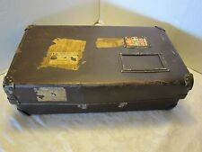"""21"""" Military Student Postal Shipping Box Laundry Case Luggage Courier Trunk WWII"""