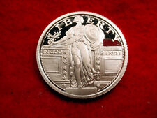 PROOF .999 SILVER ROUND STANDING LIBERTY QUARTER DESIGN!!  #72***