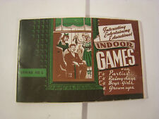 VTG 1943 RETRO Indoor Games for Parties Booklet RARE Rainy Days Trail Blazers Co