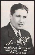 REAL PHOTO Postcard ELLWOOD CITY Pennsylvania/PA Sam G Neff for Congress AD 1944