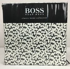 "Hugo Boss Cotton KING Duvet Set ""Mercury"" Charcoal Grey Beige Silver White Dots"