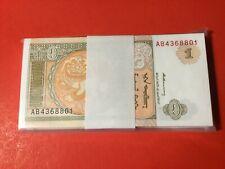 Mongolia 1 tugrik 1993 pick #52 Bundle 100 pcs Uncirculated