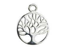 Sterling Silver 12mm Tree of Life + Jump ring - Charm, Pendant