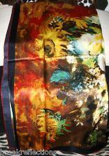 "100% Silk Scarf-90x90SQ*Art Master Classic V'Goff ""Sunflowers-Premium Silk*BR"