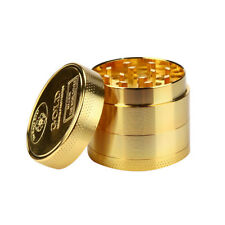 Tobacco Herb Spice Grinder Herbal Alloy Smoke Metal Crusher Cutter Gold