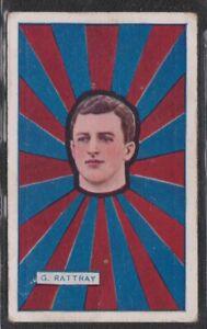 J.J.Schuh Magpie Australian Footballers 1925 #11 G.Rattray - Fitzroy Lions
